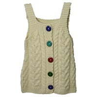 Image for Irish Aran Baby Pinafore, Natural