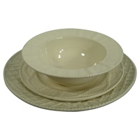 Image for Kara Irish Pottery Aranware 3 Piece Place Setting