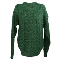 Image for 100% Merino Wool Aran Sweater, Green
