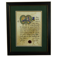 Image for The Irish Blessing Green Matted Black Framed Print, 8 x 10""