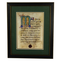 Image for Wedding Blessing Green Matted Black Framed Print, 8 x 10""