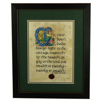 Image for Baby Blessing Green Matted Black Framed Print, 8 x 10""