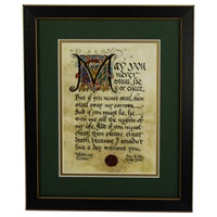 Image for Wedding Toast Green Matted Black Framed Print, 8 x 10""