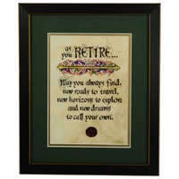 Image for Retirement Blessing Green Matted Black Framed Print, 8 x 10""