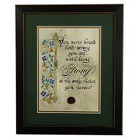 "Image for ""How Strong You Are"" Green Matted Black Framed Print, 8 x 10"""