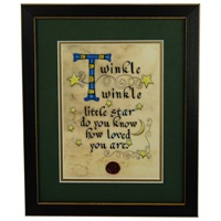 Image for Twinkle...Little Star Green Matted Black Framed Print, 8 x 10""