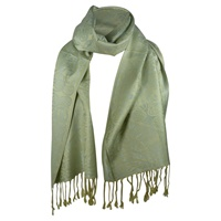 Image for Book of Kells Inspired Toraigh Scarf, Seafoam/Beige
