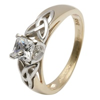 Image for Celtic Engagement Ring - Princess Cut Solitarie Diamond Ring