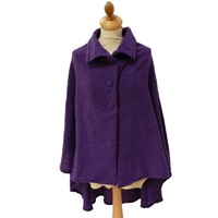 Image for Celtic 3 Button Cropped Cape, Royal Purple