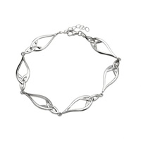 Image for Silver Link Bracelet with Trinity Knots