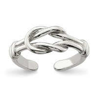 Image for Sterling Silver Love Knot Toe Ring
