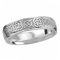 Image for Endless Celtic Knot Design Wedding Ring Sterling Silver