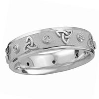 Image for Endless Trinity Design Wedding Ring, Sterling Silver