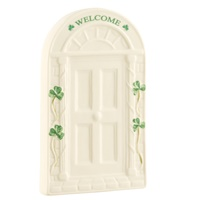 Image for Belleek Welcome Door Wall Plaque