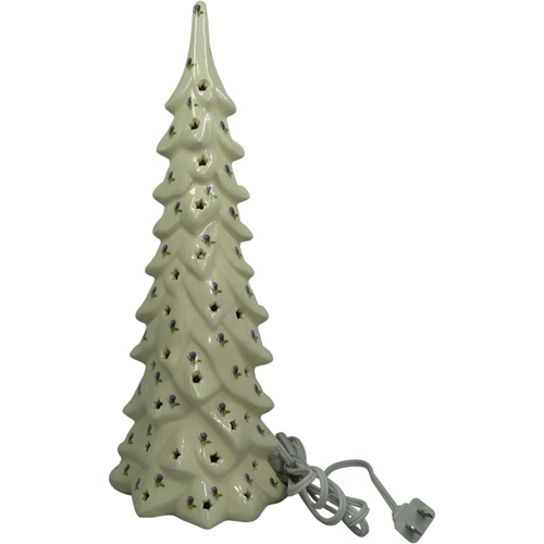 Lighted Ceramic Christmas Tree With Thistle Large Tipperary Irish