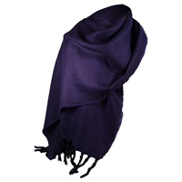 Image for Kerry 100% Lambswool Aubergine/Purple Scarf
