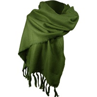 Image for Kerry 100% Lambswool Mid Green Scarf