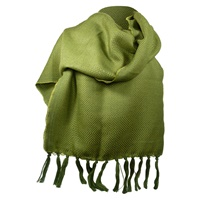 Image for Kerry 100% Lambswool Mid Green/Lime Scarf
