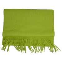Image for Merino Wool Scarf- Bright Green