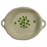 Image for Irish Blessing Bread Basket with Shamrocks