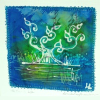 Image for Handpainted on Silk Note Cards - Louise Loughman