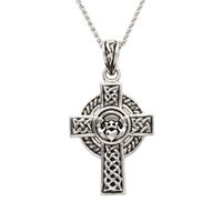 Image for Sterling Silver Claddagh Celtic Cross