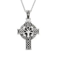 Image for Sterling Silver Tree of Life Celtic Cross