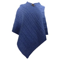 Image for Merino Wool Aran Plaited Poncho Cape,645