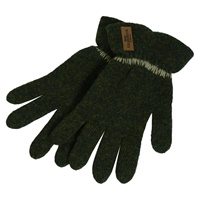 Image for Aran Styled Tusker Gloves, Deep Green
