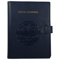 Image for Deluxe Celtic Leather Journal - Wired Bound, Navy