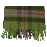 Image for Lambswool Scarf - Green/Red/Purple/Brown Plaid