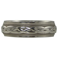 Image for Endless Celtic Design Wedding Ring, Sterling Silver
