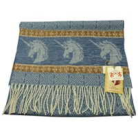 Image for Celtic Unicorn Jacquard Scarf, Blue