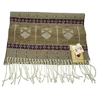 Image for Celtic Border Swords and Shields Jacquard Scarf, Tan