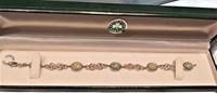 Image for Celtic Knot Weave Sterling Silver and Connemara Marble Bracelet