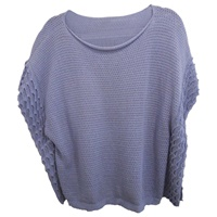 Image for Cotton Boat Neck Sweater Corn Flower