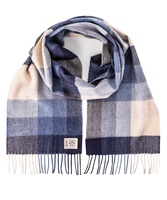Avoca Handweavers Merino Scarf, Denim