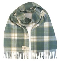 Image for Avoca Handweavers Merino Scarf, Green Check
