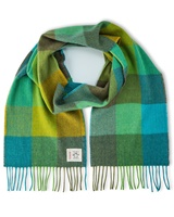 Avoca Handweavers Merino Scarf, Green Fields