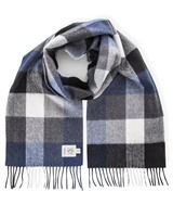 Avoca Handweavers Merino Scarf, Navy/Grey