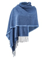 Image for Avoca Handweavers Cashmere Wool Sandymount Scarf, Dark Navy