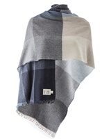 Image for Avoca Handweavers Merino Wool and Cashmere Blend Gracie Stole, Denim