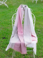 Image for Avoca Handweavers Merino Wool and Cashmere Blend Gracie Stole, Oh Lordy Pink