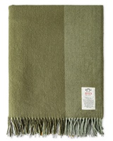 Avoca Handweavers July Bug Cashmere Blend Throw, Green