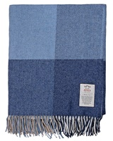 Avoca Handweavers Capri Cashmere Blend Throw, Denim