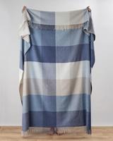 Image for Avoca Handweavers Capri Cashmere Blend Throw, Denim