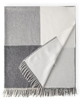 Image for Avoca Handweavers Stella Cashmere Blend Throw, Grey Check