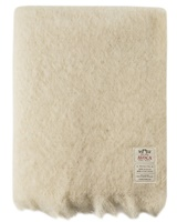 Image for Avoca Handweavers Mohair Throw, Cream M11