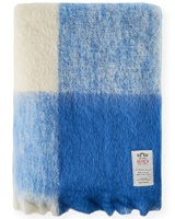 Avoca Handweavers M17 Mohair Throw, Sky Blue