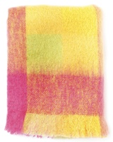 Avoca Handweavers Lotus Mohair Throw, Pink/Yellow
